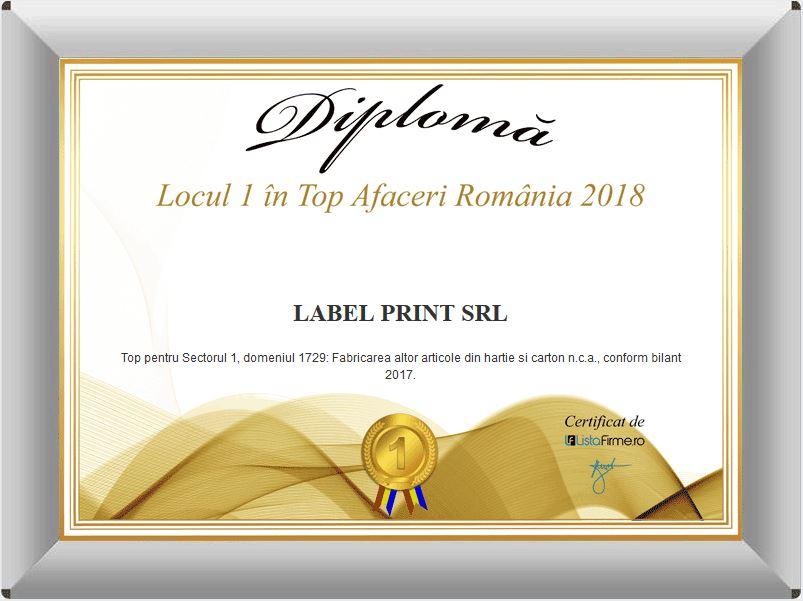 certificari premii tipografie LabelPrint
