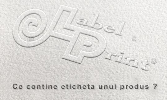 ce contine eticheta unui produs