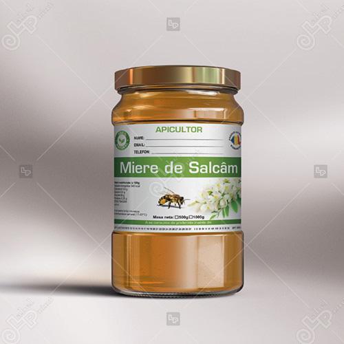 eticheta borcan de miere