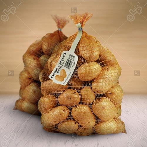 tag carton model etichete sac cartofi
