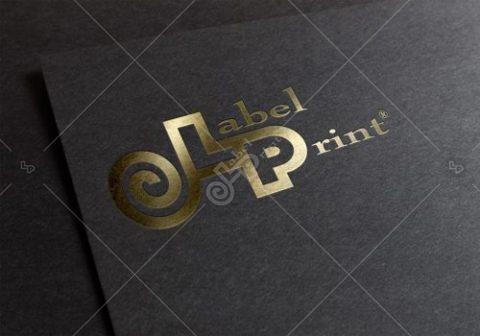 logo Label Print Folie Gold