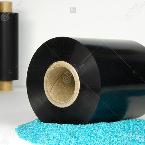 ribon negru distribuit de labelprint.ro